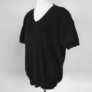 EXCLUSIVELY MISOOK 1X Black Knit Top